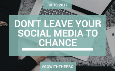 Don't Leave Your Social Media to Chance